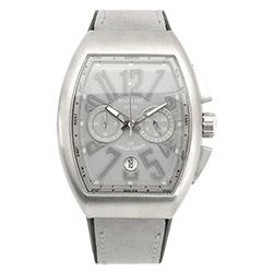 Manlike 曼莉萊克 碼表計時功能大酒桶限量腕錶 銀殻水泥面灰帶