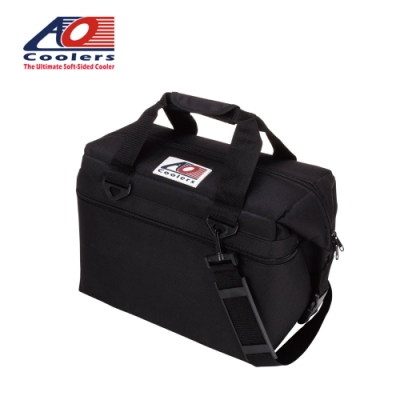 【AO Coolers】酷冷軟式輕量保冷托特包-24罐型 -經典帆布CANVAS系列 經典黑