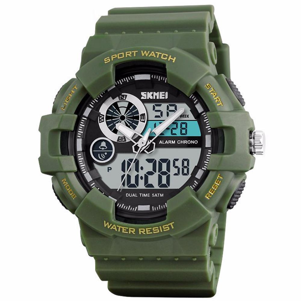SKMEI 時刻美1312-雙機芯多功能防震防水電子錶 (2色任選)