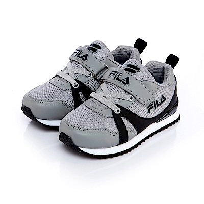 FILA KIDS中童EVA經典慢跑鞋-灰黑 2-J832S-525