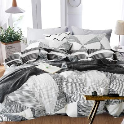 A-ONE 100%純棉-黑白H系列-純棉兩用被-抽象畫