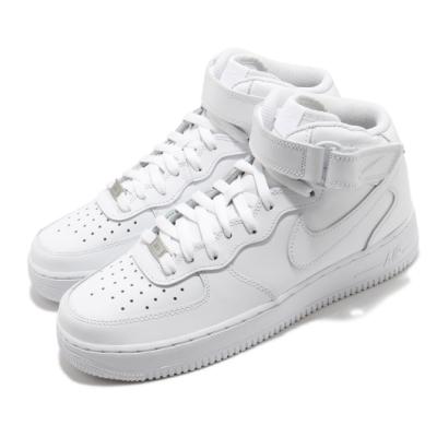 Nike 休閒鞋 Air Force 1 Mid 運動 男鞋 經典款 皮革 質感 簡約 球鞋 穿搭 全白 CW2289111