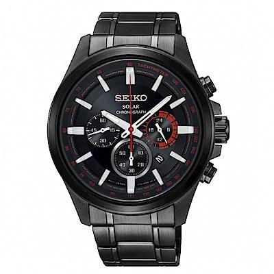 SEIKO Criteria三眼時刻太陽能時尚腕錶/V175-0ER0X/SSC685P1
