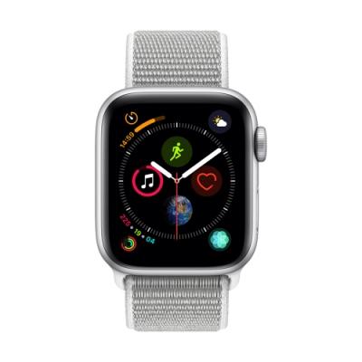 Apple Watch Series 4(GPS+網路)40mm銀色鋁金屬錶殼+貝殼色錶環