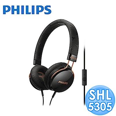 【福利品】PHILIPS 頭戴式耳機麥克風 SHL5305 (黑色)