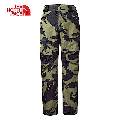 The North Face北面男款綠色防水保暖透氣滑雪褲|3LWM7AB