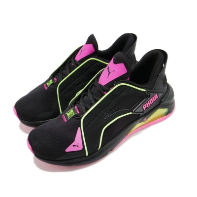 Puma 慢跑鞋 LQDCELL Method 女鞋 輕量 透氣 舒適 避震 球鞋 穿搭 黑 粉 19376602