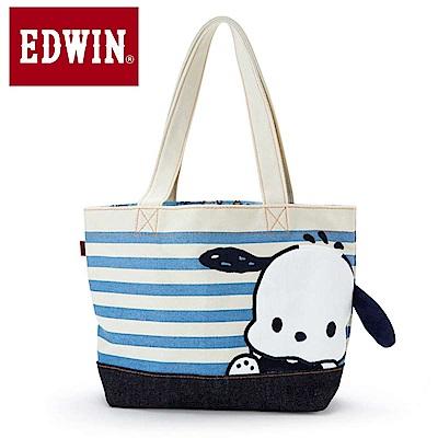 Sanrio 帕恰狗*EDWIN聯名 帆布迷你提袋