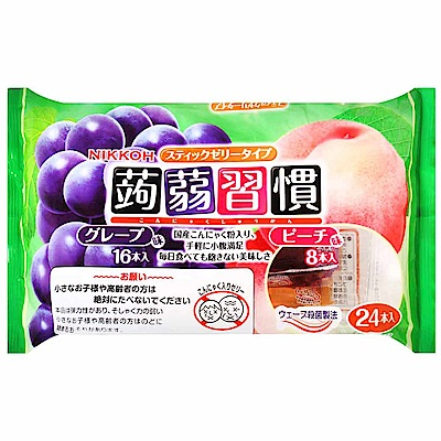 日幸 蒟蒻習慣果凍-綜合(葡萄風味&水蜜桃風味)(384g)
