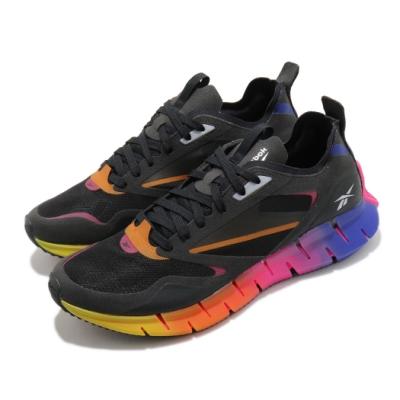 Reebok 慢跑鞋 Zig Kinetica Horizon男鞋 海外限定 輕量 舒適 避震 路跑 健身 黑 彩 FZ4835
