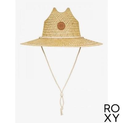 【ROXY】SUNSHINE ON MY MIND 戶外運動草編帽 米色