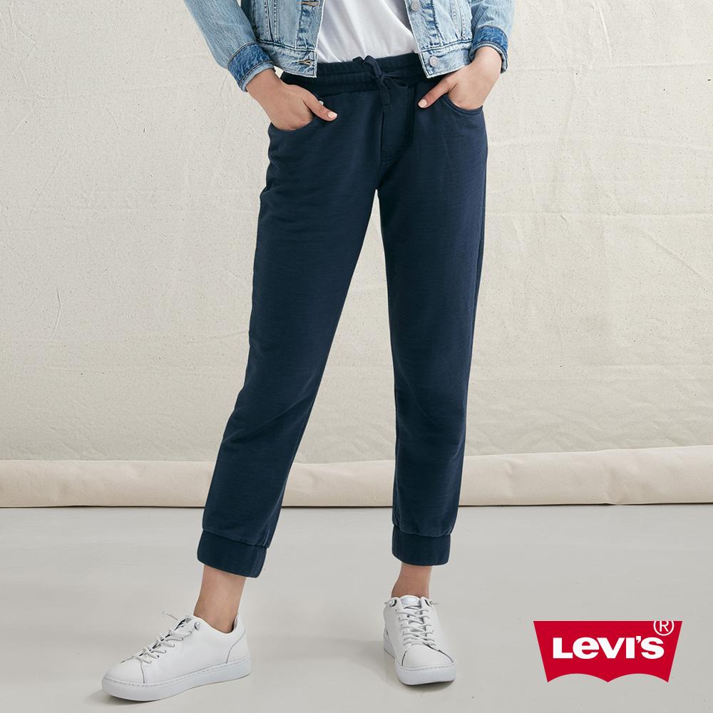 Levis 女款 針織休閒褲 上寬下窄 抽繩腰頭
