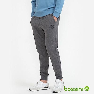 bossini男裝-運動束口棉褲01灰