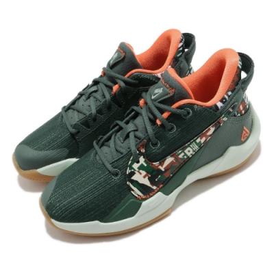 Nike 籃球鞋 Freak 2 PS 運動 童鞋 避震 包覆 字母哥 球鞋 中童 穿搭 綠 橘 DD0011300