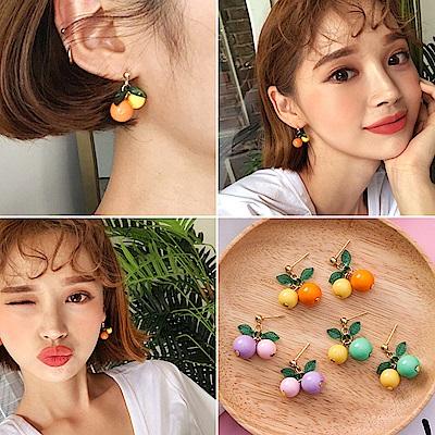 梨花HaNA 韓國歡樂水果派對豐盛果實耳環 (共三色)