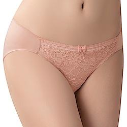 思薇爾 沁涼Bra系列M-XL蕾絲低腰三角內褲(肉桂膚)