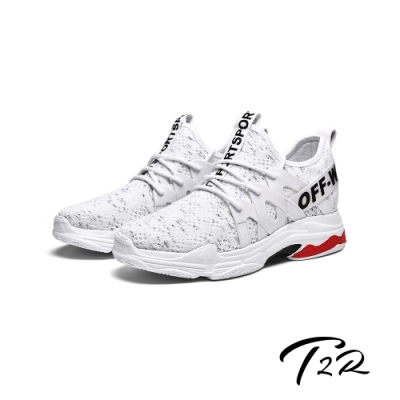 T2R-正韓空運-夏季透氣運動休閒潮流內增高8公分休閒男鞋-白