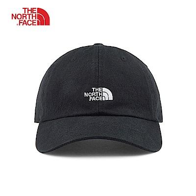 The North Face北面男女款黑色舒適遮陽運動帽|3FKNA7D