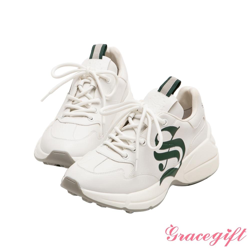 Grace gift-哈利波特史萊哲林學院休閒老爹鞋 綠