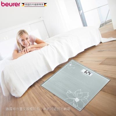 beurer德國博依 典雅花卉玻璃體重計 GS 10