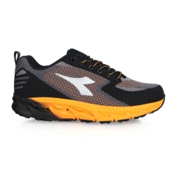 DIADORA 男戶外登山鞋-寬楦 野趣 越野 慢跑 DA71156 黑橘