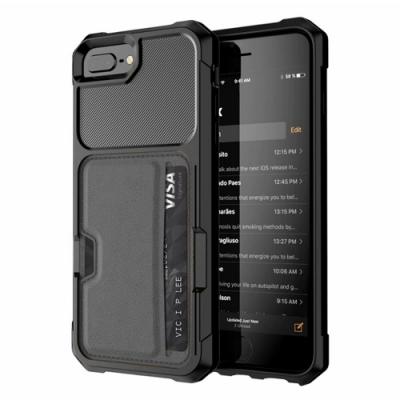 【TOYSELECT】iPhone SE2/6/7/8 TYS彗星黑[插卡+支架]四角抗撞防摔iPhone手機殼