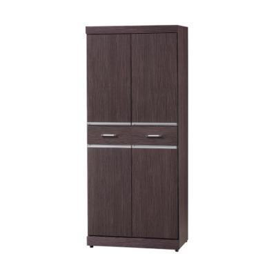 Bernice-2.5x5.8尺鞋櫃-75x40x174cm(兩色可選)