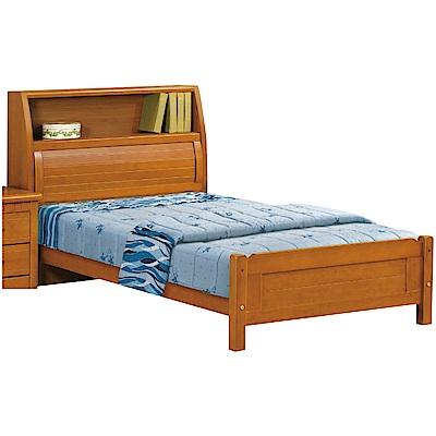 綠活居 勞森時尚3.5尺實木單人床台組合(不含床墊)-113x223x108cm免組