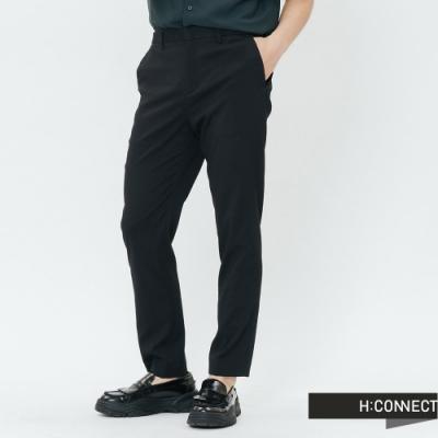 H:CONNECT 韓國品牌 男裝-側鬆緊都會西裝褲-黑