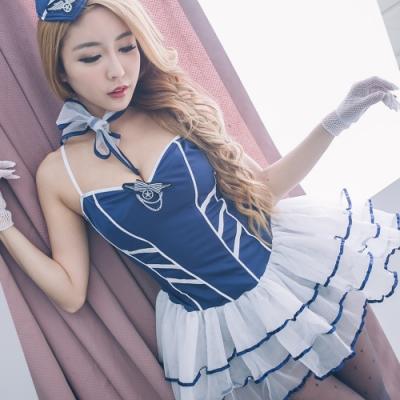 性感空姐制服表演服 角色扮演甜心空姐cosplay服裝 流行E線