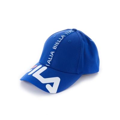 FILA 時尚LOGO帽-藍 HTU-1103-BU