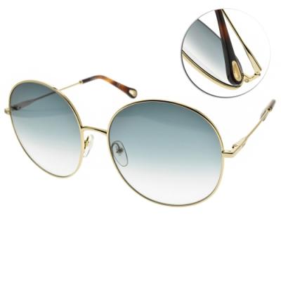CHLOE太陽眼鏡  圓框款/金-漸層藍鏡片 #CE171S 838