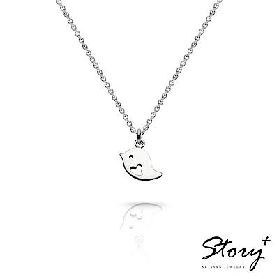 STORY故事銀飾-祈福項鍊 卡片銀飾小鳥款