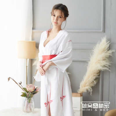 角色扮演服 白玉紅櫻華麗性感和服  被窩的秘密