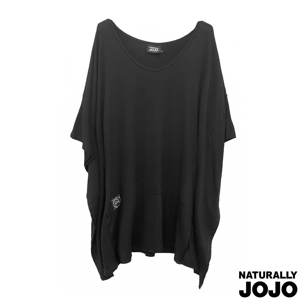 【NATURALLY JOJO】一片式設計簡約洋裝 (黑)