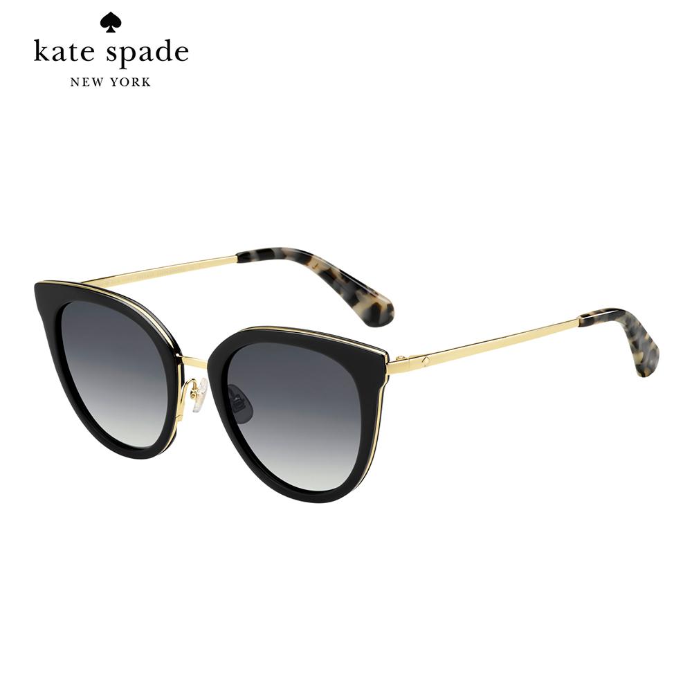Kate Spade JAZZLYN/S-時尚貓眼太陽眼鏡 黑色 @ Y!購物