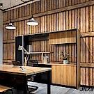 佶之屋 DIY立體3D仿真石紋木紋自黏壁貼 45x300cm-仿古木板