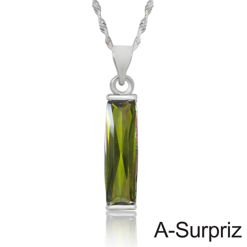 A-Surpriz 長相守晶鑽項鍊(深綠鑽)