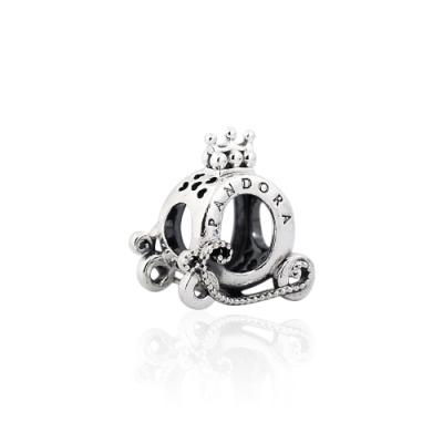 Pandora 潘朵拉 皇冠O型標誌馬車 純銀墜飾 串珠