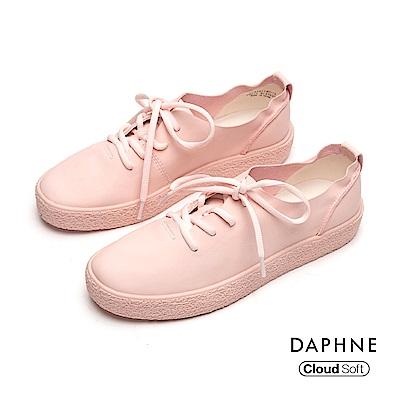 達芙妮DAPHNE 休閒鞋-輕盈簡約綁帶休閒鞋-粉紅