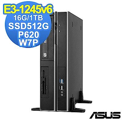ASUS WS660 SFF E3-1245v6/16G/1T+512G/P620/W7P