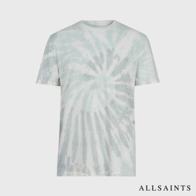 ALLSAINTS TUCKER 復古印染印花純棉短袖T恤-淺灰