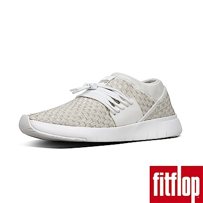 FitFlop STRIPKNIT LACE UP SNEAKERS-都會白