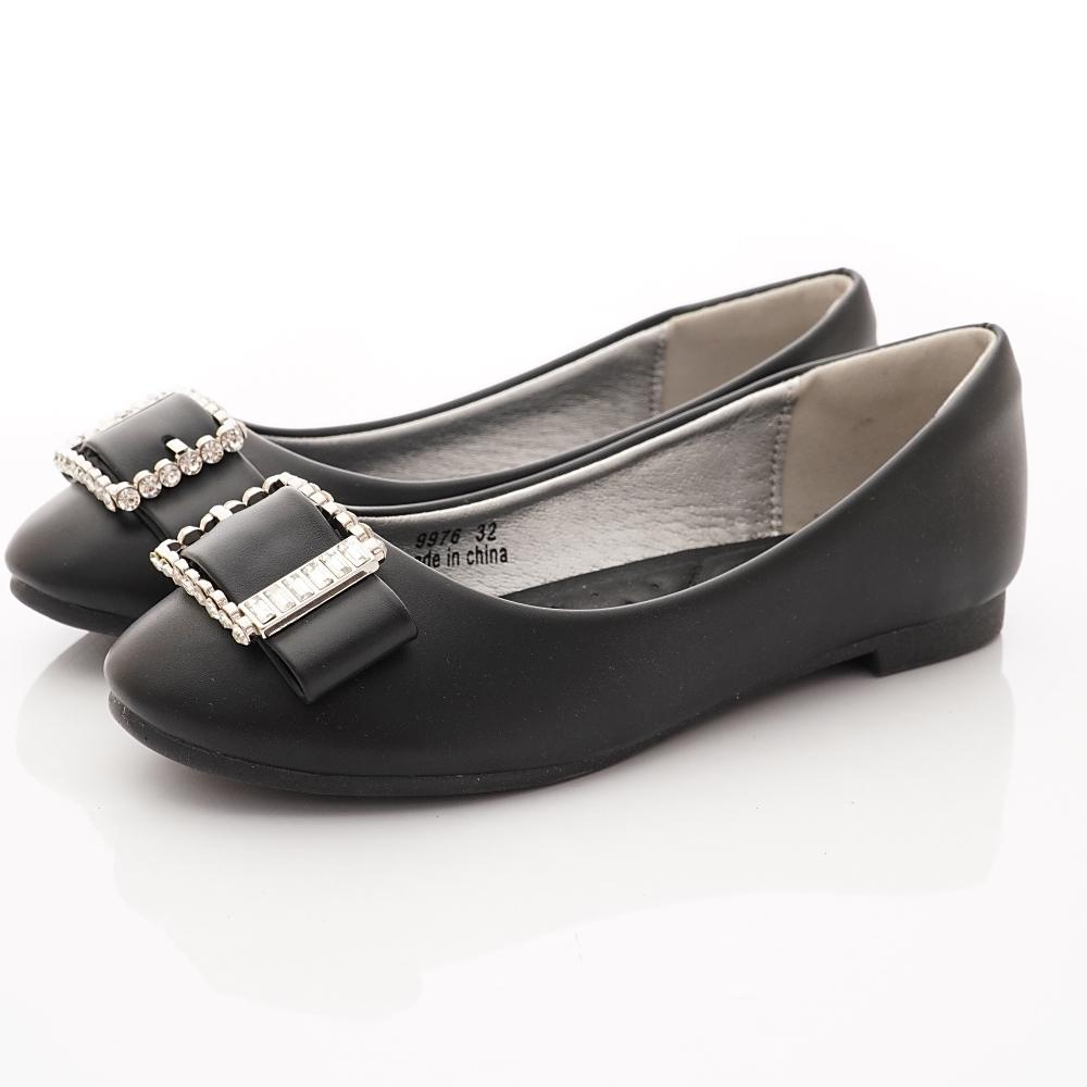 PV日系私藏 鑽飾公主鞋款 9976黑(中大童段)