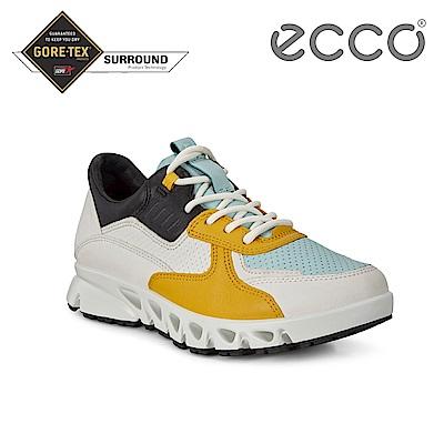 ECCO MULTI-VENT W 全方位城市戶外運動休閒鞋 女-黃/白/湖水藍