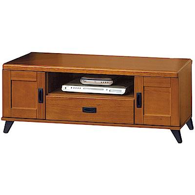 綠活居 克多朗時尚4尺美型實木電視櫃/視聽櫃-120x40x44.5cm免組