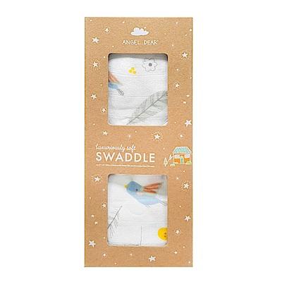美國 Angel Dear 竹纖維嬰幼兒包巾禮盒 (繽紛花葉)