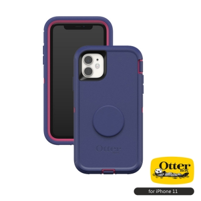 OtterBox Otter+Pop iPhone 11(6.1吋)專用 雙層防摔保護殼-Defender防禦者泡泡騷系列■藍紫