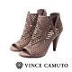 VINCE CAMUTO-ALLISTAN 古典簍空露趾美型高跟踝靴-絨灰色 product thumbnail 1