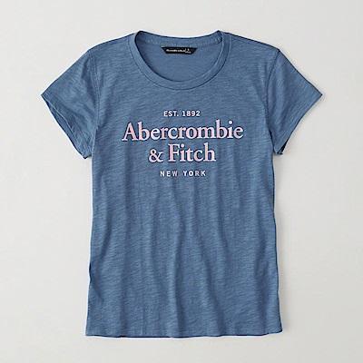 AF a&f Abercrombie & Fitch 女 短袖 T恤 藍 0755